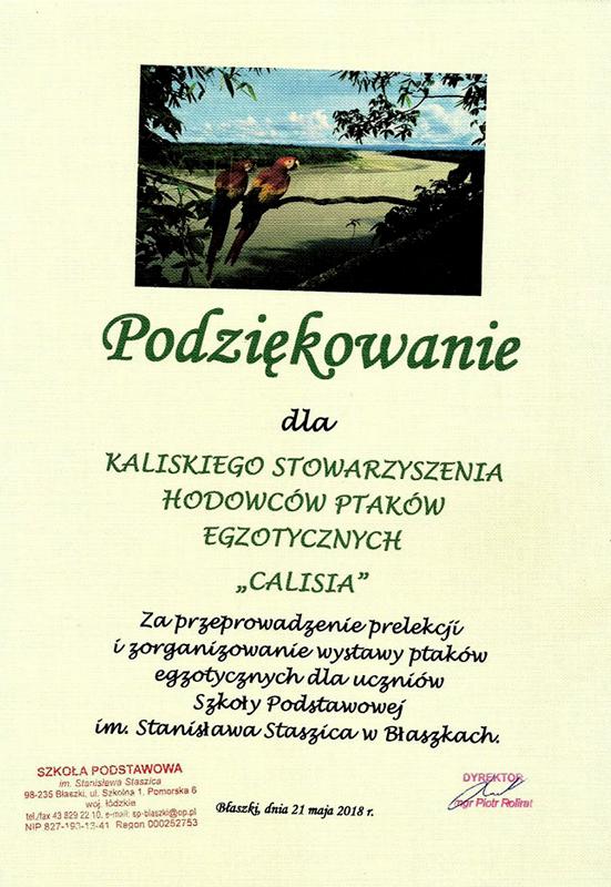Prelekcja w Szkole Podstawowej im. Stanisława Staszica w Błaszkach