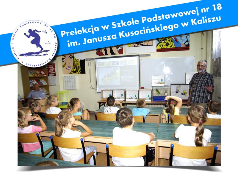 Prelekcja w Szkole Podstawowej nr 18 w Kaliszu